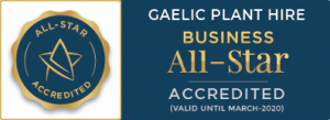Gaelic Plant Hire All Star Accreditation